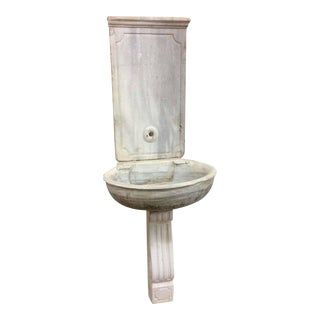 Antique Marble Sink with Stand
