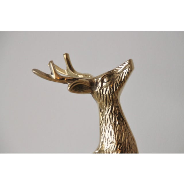 Solid Brass Reindeer - A Pair - Image 4 of 4
