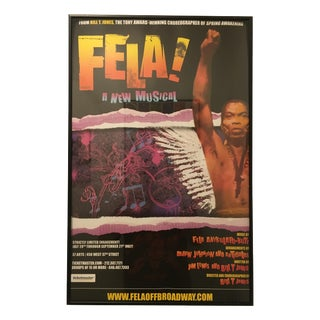 """Rare """"Fela the Musical"""" Off-Broadway Poster"""