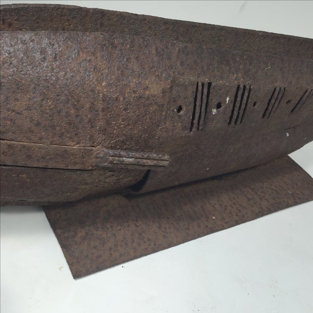 Brutalist Metal Fish Sculpture - Image 4 of 11