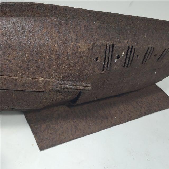 Image of Brutalist Metal Fish Sculpture