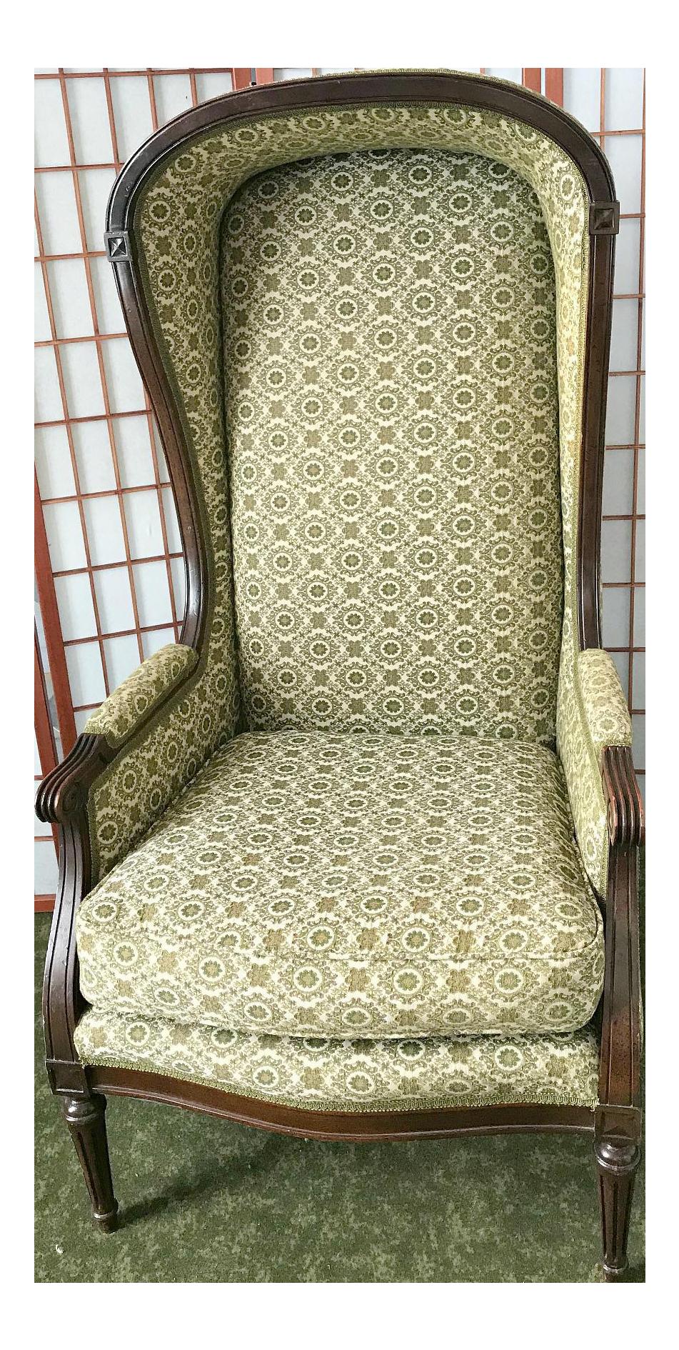 Vintage Victorian Hooded Bonnet Chair