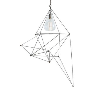Geometric Industrial Iron Maquette Chandelier