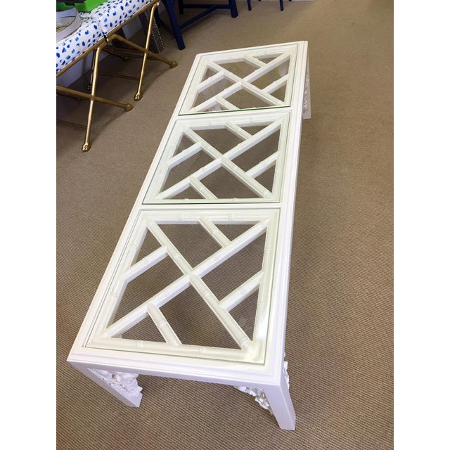 Vintage White Lacquer Elephant Coffee Table - Image 6 of 6