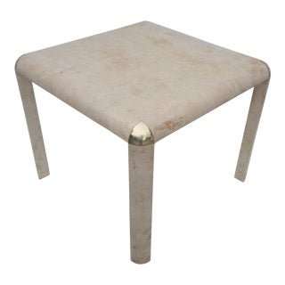 Karl Springer Goatskin Square Dining Table