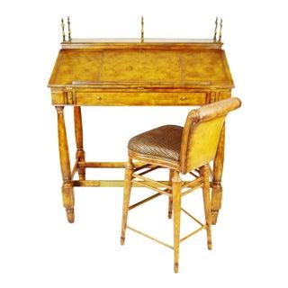 Vintage Thomasville Ernest Hemingway Desk & Chair - A Pair