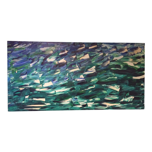 Image of Modern Green Oil Painting