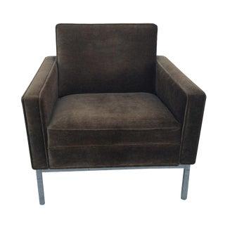 Mid-Century Mohair Club Chair