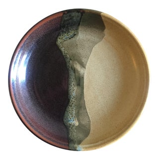 Studio Art Ceramic Shallow Bowl
