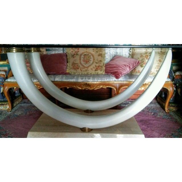 Vintage Faux Elephant Tusk Dining Room Table Chairish