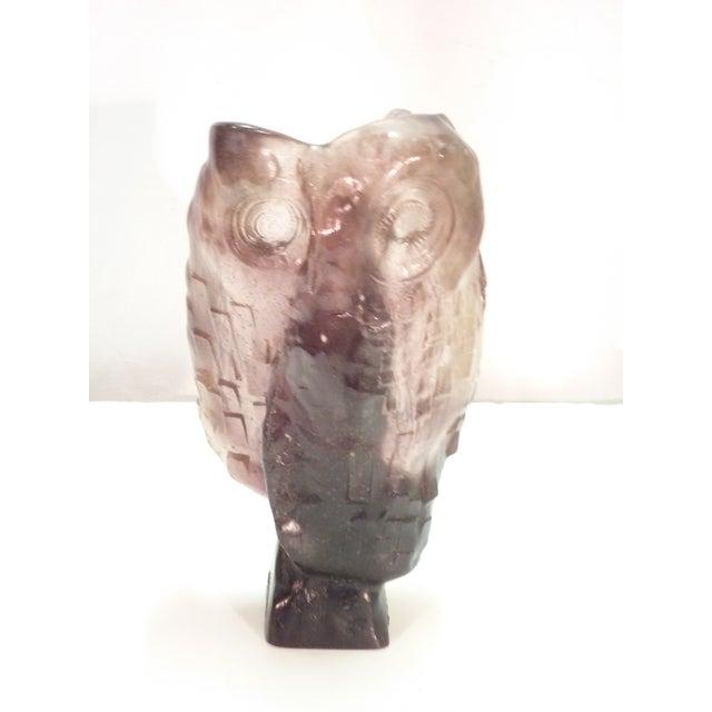 Daum Glass Owl - Image 2 of 6