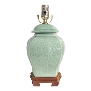 Chinoiserie Celadon Green Accent Lamp