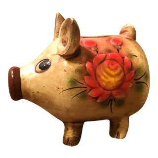 Vintage Art Pottery Pig Piggy Bank
