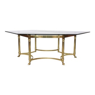 Monumental La Barge Brass and Glass Coffee Table, 1950s, France
