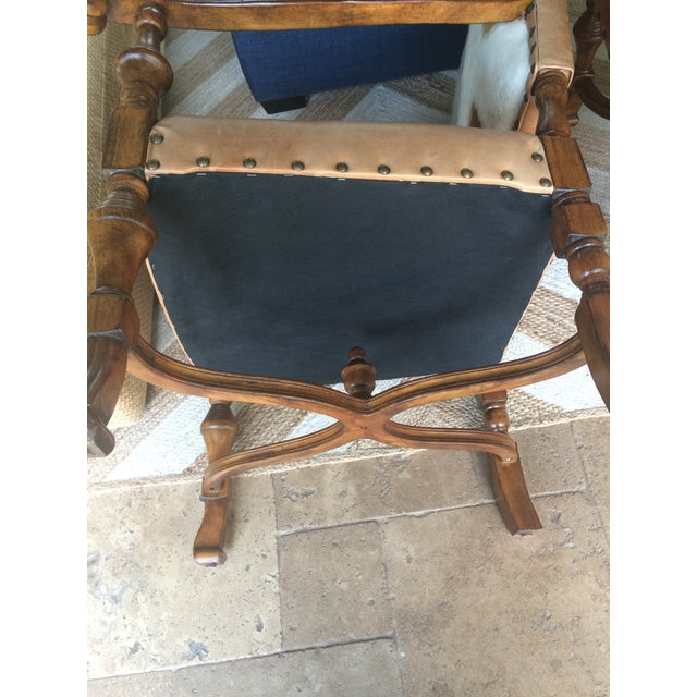 Cowhide & Leather Camargue Chairs - A Pair - Image 5 of 7