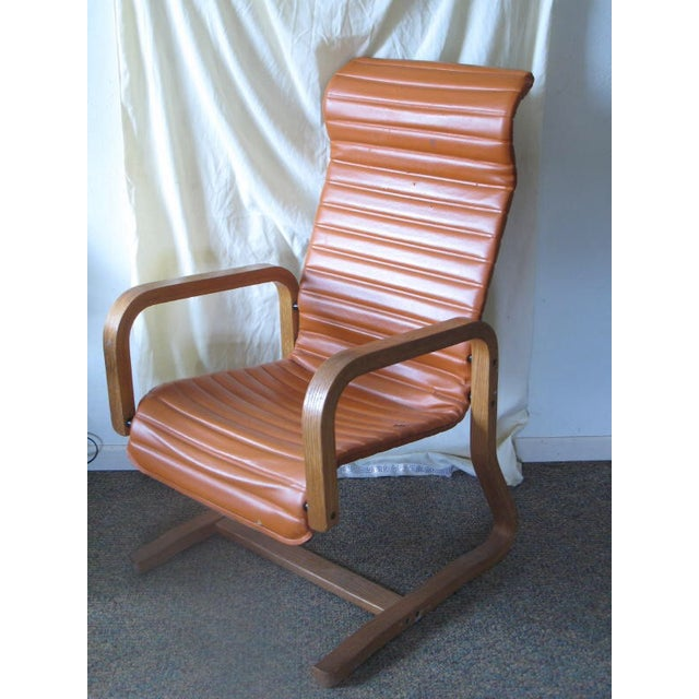 Thonet Oak Laminated High Back Lounge Chair - Image 6 of 11