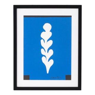 "Newly Framed Henri Matisse ""Palme Blanche Sur Fond Blue 1949"""