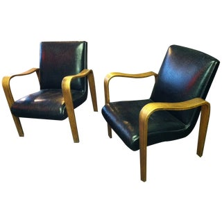 Mid-Century Chairs Thonet Style of Aalto - Pair