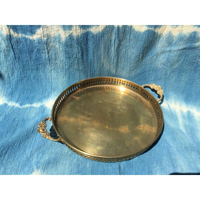 Vintage Brass Tray with Handles - Image 6 of 6
