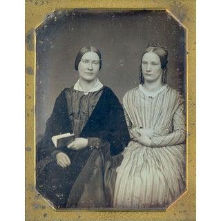 Antique 1/2 Plate Daguerreotype Portrait Sisters