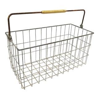 Vintage Metal Basket With Bakelite Handle
