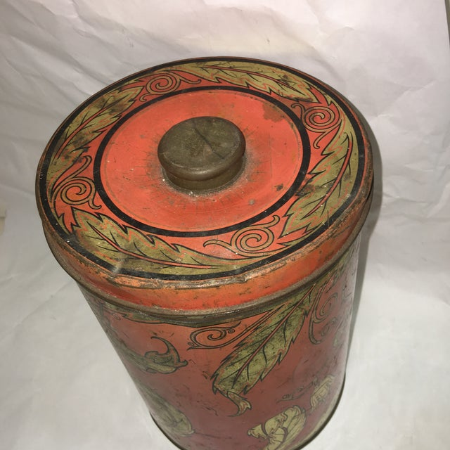 1950's Geo F. Hellick Coffee Tin Canister - Image 4 of 8