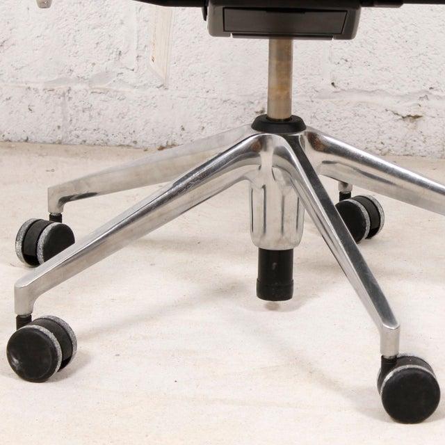 Vitra Italian Black Leather Swivel Desk Chair - Image 5 of 9