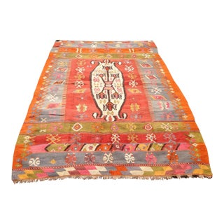 Vintage Turkish Kilim Rug - 6′2″ × 8′10″