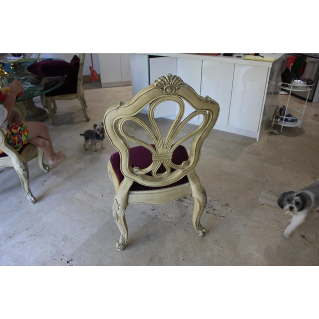 Italian Hand-Carved 19th Century Dining Chairs - Set of 6 - Image 7 of 11