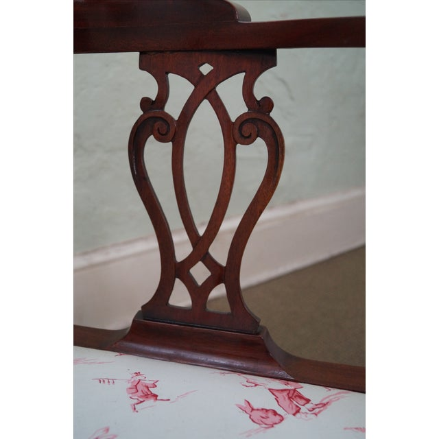 Southwood Chippendale Style Claw Foot Corner Chair - Image 10 of 10