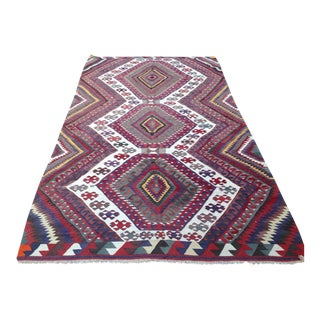 Vintage Turkish Kilim Rug - 6′2″ × 11′1″