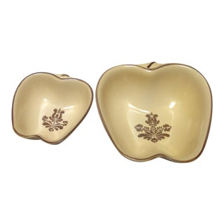 Apple-Shaped Serving Dishes - A Pair