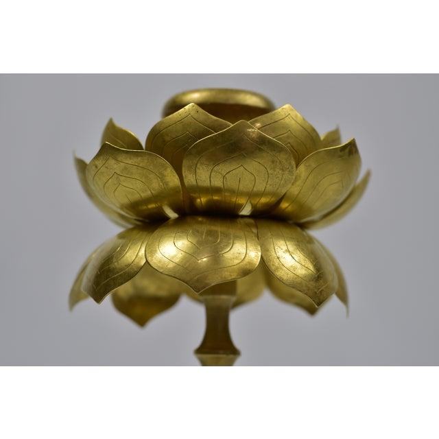 Vintage Feldman Brass Lotus Blossom Candlestick - Image 10 of 11