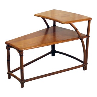 Heywood-Wakefield TwoTiered Wedge Shaped End Table