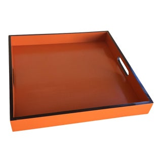 Orange Lacquer Hermès Inspired Tray
