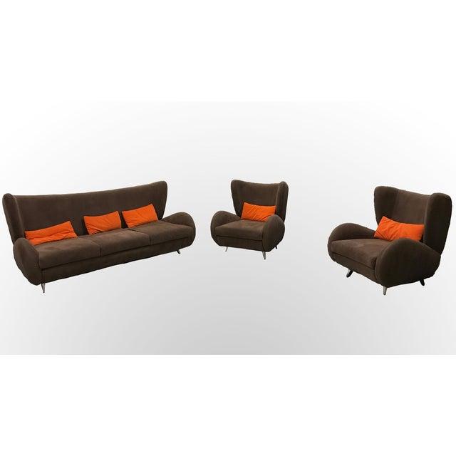 """Vladimir Kagan """"Fiftyish"""" Sofa & Chairs - Set of 3 - Image 9 of 9"""