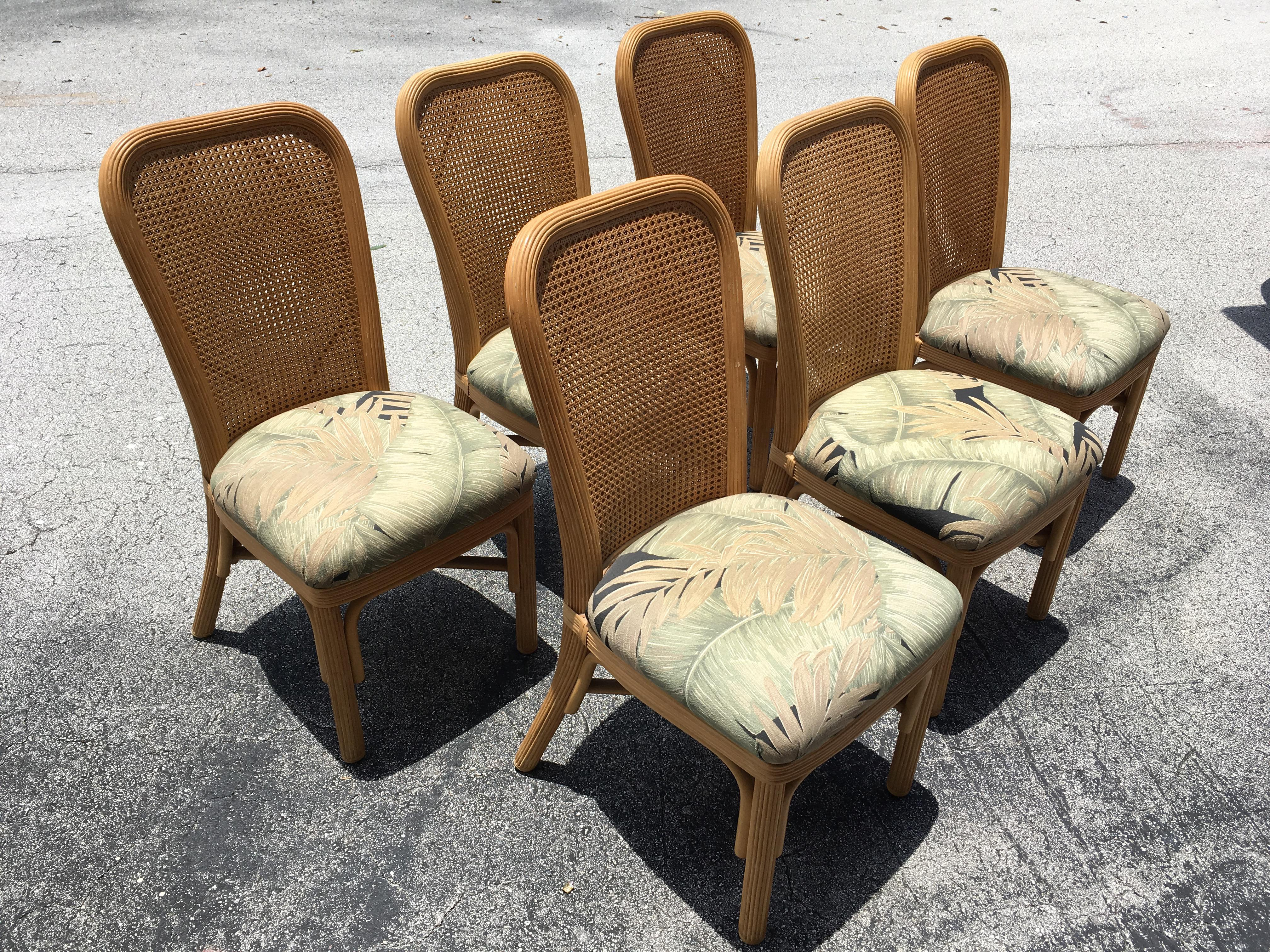 twisted rattan bent wood cain back dining chairs set of 6 image 3 of