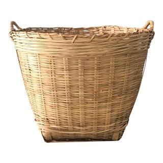 Deep Round Rattan Basket