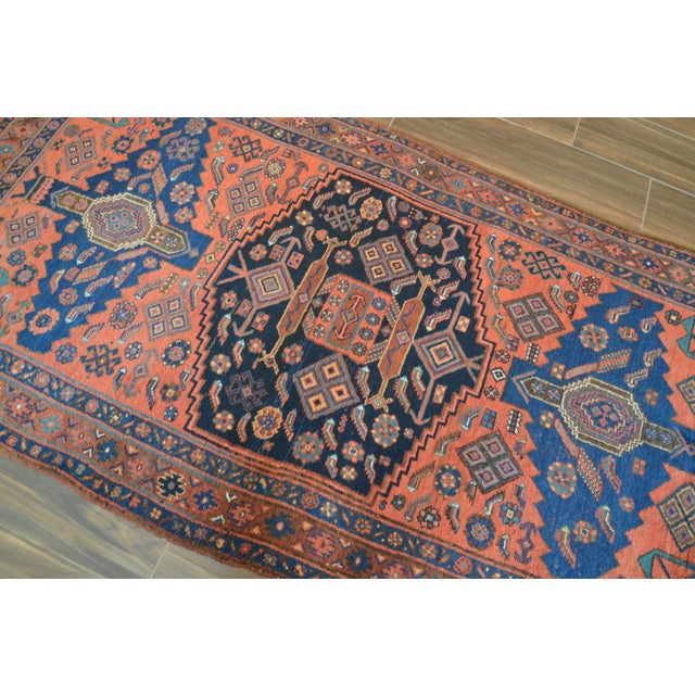 "Antique Persian Bidjar Long Rug - 4'5"" x 8'3"" - Image 5 of 9"