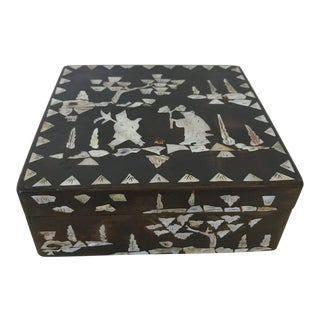 Mother of Pearl Inlay Chinese Trinket Box
