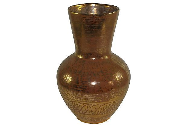 Stangl 22k Granada Gold Pottery Vase Chairish