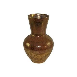 Stangl 22k Granada Gold Pottery Vase