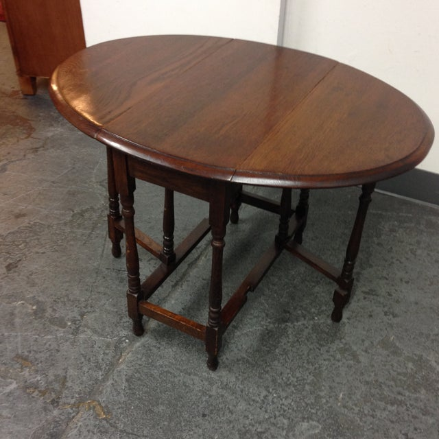 Vintage Convertible Occasional Table - Image 4 of 10