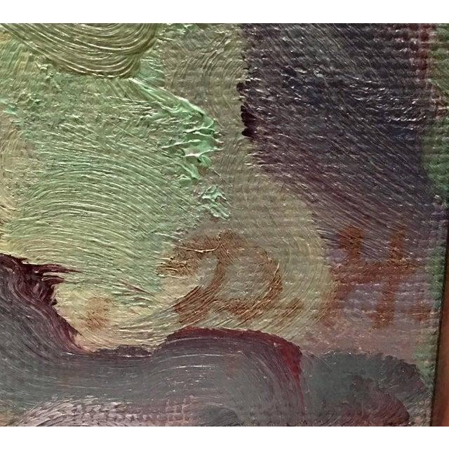 Original Oil on Burlap Landscape Painting - Image 7 of 10