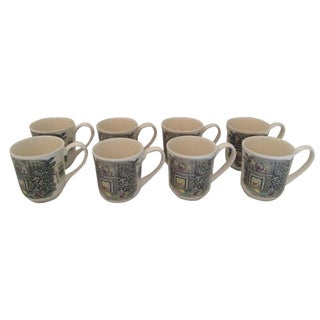 Johnson Brothers Christmas Coffee Mugs - Set of 8