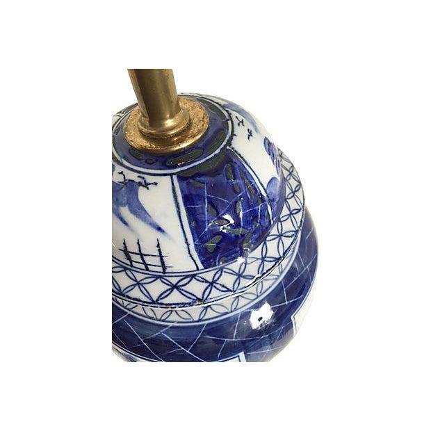 Blue & White Pagoda Ginger Jar Lamp - Image 5 of 5