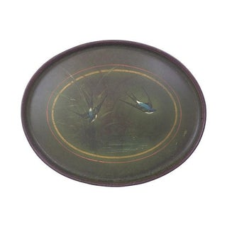 English Tole Tray with Birds