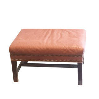 Hancock & Moore Chippendale Ottoman in Natural Leather