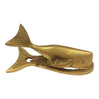 Vintage Brass Whale Paper Clip
