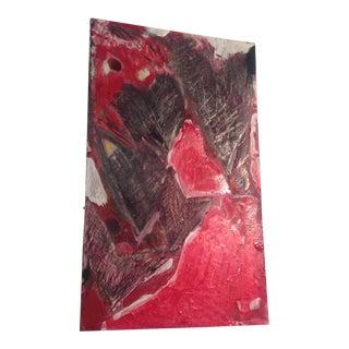 Modernist Abstract Original Heart Painting